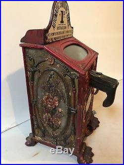 1895 cast iron arcade SHOOTER-one of the earliest coin-op ever made