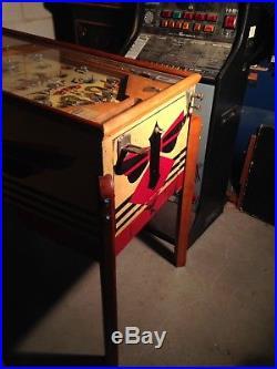 1937 Bally Arlington Payout Pinball Machine, One Ball, Extremely Rare Woodrail