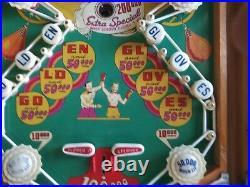 1949 Chicago Coin Golden Gloves EM Woodrail Pinball Please Read Description