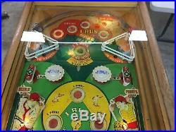 1951 Genco Hits and Runs Baseball Pinball Machine #166 of 490 made