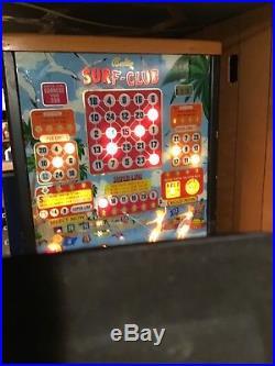 1954 Bally Surf Club Vintage Pinball Bingo Machine