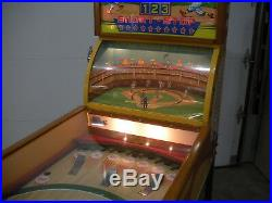1958 Williams Short Stop Deluxe Pitch & Bat Baseball Arcade Game. Restored