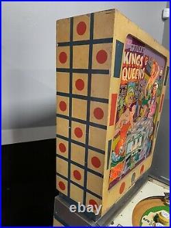 1965 Kings And Queens Pinball Machine Gottlieb Classic Elton John