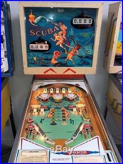 1970 Gottlieb Scuba Pinball Machine Nice $399 Ships