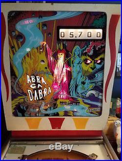 1975 Gottlieb Abra Ca Dabra pinball machine vintage wedgehead EM