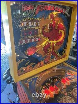 1976 Ballys Fireball Pinball Machine Home Version Working