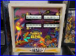 1976 Gottlieb Target Alpha Pinball Machine 15 Targets Em 4 Player