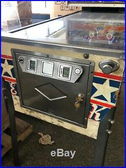 1977 Bally's Evel Knievel Arcade Pinball Machine coin-op kiss evil FREE S/H