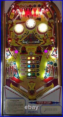 1977 Gottlieb Cleopatra Pinball Machine Nice Leds Nice N Rare