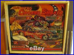 1978 Bally Nitro Ground Shaker Pinball Machine NHRA Drag Racing for Repair
