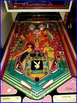 1978 Bally Playboy Pinball Machine Hugh Hefner Vintage Collectors Arcade Game