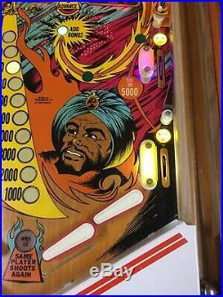 1978 Gottlieb Sinbad Pinball Machine Nice Leds