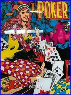 1978 Joker Poker Pinball Machne 15 Drop Targets Gottlieb Classic