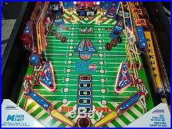 1989 Data East Monday Night Football Pinball Machine Great Shape
