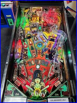 1989 Elvira And The Party Monsters Pinball Machine Leds Super Nice Example