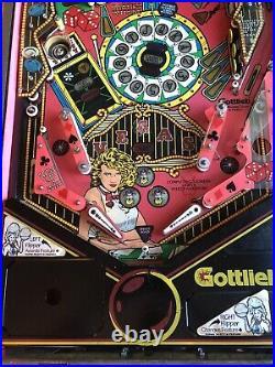 1990 RARE GOTTLIEB -Vegas- Pinball Machine. Local Pickup Only