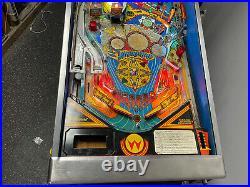 1990 Whirlwind Pat Lawlor Pinball Machine Leds Plays Great