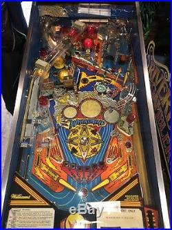 1990 Williams Whirlwind Pinball Machine