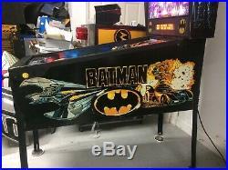 1991 Batman Data East Pinball Machne Leds Plays Great