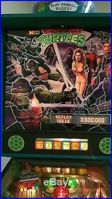 1991 Teenage Mutant Ninja Turtles Pinball Machine by Data East