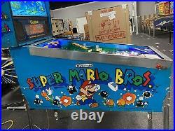 1992 Super Mario Bros Pinball Machine Nintendo Leds Brothers Incredible