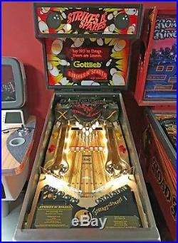 1995 Gottlieb Strikes'N Spares Bowling Pinball Machine PRO SERVICED By GRC