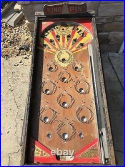 All Original 1932 KING PIN 1932 Pinball Machine Coin Op Art Deco RARE