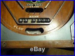 Antique Rockola 1934 Worlds Series Pinball Machine Original No Marquee