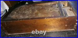 Antique Standup Pinball Machine Game Wood Mechanical Vintage