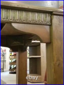 Antique Wooden Nickel Pinball Machine Restored No Flippers 1930s glass works! 5