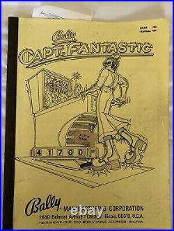 BALLYS CAPTAIN FANTASTIC PINBALL MACHINE ELTON JOHN TOMMY Mfg Certificate 13053