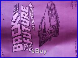 BTTF Back to the Future Pinball Machine with Michael J Fox Autograph Delorean