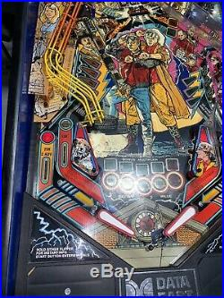 Back To The Future Pinball Machine By Data East Coin Op Arcade Delorean DMC LEDS