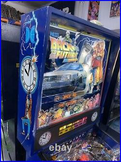 Back To The Future Pinball Machine By Data East LEDS Delorean DMC