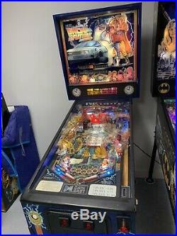 Back To The Future Pinball Machine Rare N A Beauty Michael J Fox