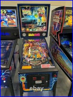 Back to the Future Pinball Machine Data East Delorean 1993