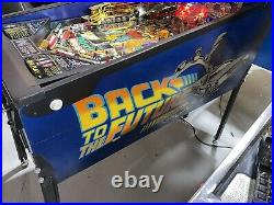 Back to the Future Pinball Machine Data East LEDs Free Shipping Delorean
