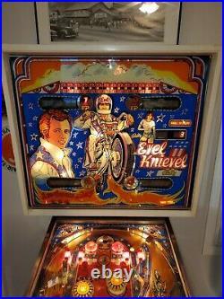Bally 1977 Evel Knievel Pinball Machine. All original plays 100 percent