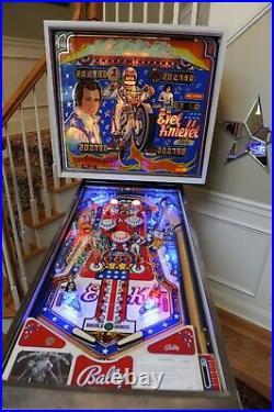 Bally 1977 Evel Knievel Pinball Machine. Restored beautifully with new playfield