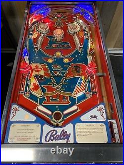 Bally 1978 Bobby Orr Power Play Pinball Machine Leds Plays Great