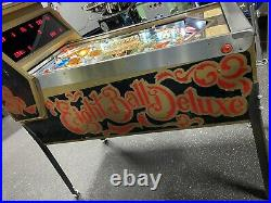 Bally 1982 Eight Ball Deluxe Le Pinball Machine Leds Plays Great Super Playfield