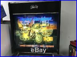 Bally Classic Harley Davidson Pinball Machine Beautiful 1991 Leds Motorcycle