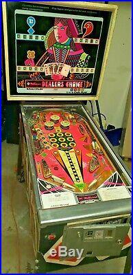 Bally Dealer's Choice Pinball Machine, Atlanta (Complete, non-working)
