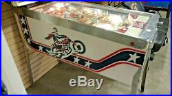 Bally Evel Knievel Pin Ball Machine Good Condition and Everything Works