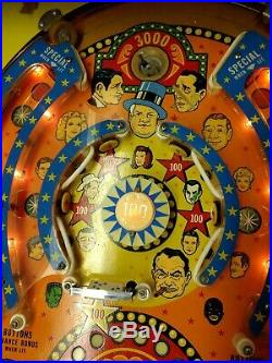 Bally Flicker Pinball Machine Electro M 2 Player Coin Operated 1975 Nice Cond