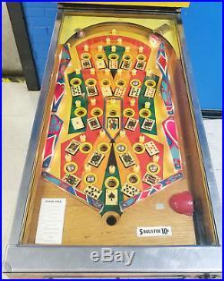 Bally Joker's Wild Gambling Pinball Machine! WORKS GREAT! GOOD CONDITION