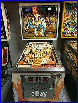 Bally Kiss Pinball Machine Leds Looks Great 1979 Classic Gene Simmons Nice