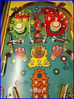 Bally Knockout Pinball Machine 2 Player Coin Operated 1975 Kokomo Indiana