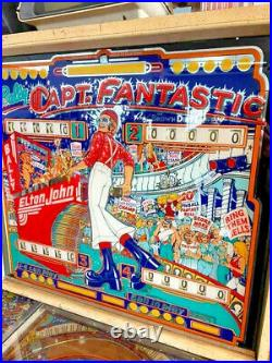 Bally Pinball Machine Captain Fantastic Em Version Elton John Free Shipping