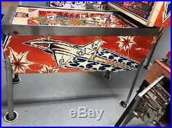 Bally Pinball Six Million Dollar Man Pinball Machine LEDS $399 SHIPS VERY NICE